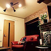 DIY/照明/一人暮らし/Lounge…などのインテリア実例