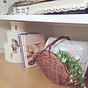 いなざうるす屋さん/malto/salut!/IKEA/カゴ大好き♡/本の収納…などのインテリア実例
