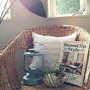 ランタン/コベントガーデン/RoomClipの本/ラタンの椅子/Room Clip Style /ホワイトインテリア…などのインテリア実例