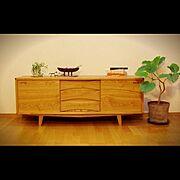 無垢材/北欧/ナチュラル/コンテスト用に!/s.o.g./手作り家具…などのインテリア実例