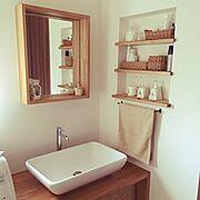 洗面台/洗面ボウル/洗面所 収納/Bathroom…などのインテリア実例
