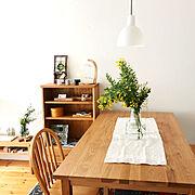 木工/ホルムガード フローラ/漆喰壁/北欧/無印良品/いいね&フォローありがとうございます☆…などのインテリア実例
