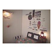 戸建て賃貸/ロフト/4歳の長男部屋/kodomo/On Walls…などのインテリア実例