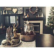 クリスマスツリー/クリスマス/Lounge…などのインテリア実例
