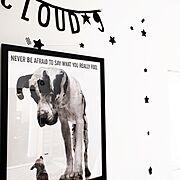 ミックススタイル/CLOUD 9♪/★星☆/kids room/わんこのポスター♡/Bedroom…などのインテリア実例