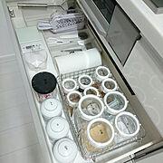 ラベリング/テプラ/整理収納部/リセット/キッチンリセット/掃除…などのインテリア実例