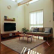 キルティングラグ/無印良品/無印良品 壁に付けられる家具/イベント用/定点観測…などのインテリア実例