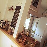 Kitchenカウンター/セリア/ダイソー/♡群馬の会♡/雑貨/Kitchen…などのインテリア実例