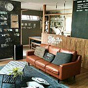 壁紙屋本舗/ブログよかったら見てみて下さい♩/IG⇨maca_home/壁をペンキで塗る…などのインテリア実例