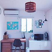 子供部屋/学習机/IKEA/子供部屋&キッズスペース/中学生の部屋/中学生男子の部屋…などのインテリア実例