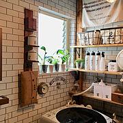 観葉植物のある暮らし/観葉植物/建売の家/建売を自分好みに♡/壁紙屋本舗/建売…などのインテリア実例
