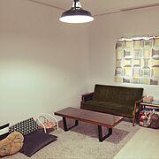 ライト/IKEAファブリック/ボーダー/北欧/カリモク/ねこ柄…などのインテリア実例