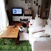 テレビ撮影/セルフリフォーム/男前/天井/いけいけ!さいたま県/DIY…などのインテリア実例
