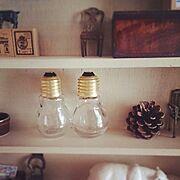 セリア新商品/スタンプ/松ぼっくり/セリア/My Shelf…などのインテリア実例