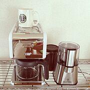 コーヒーメーカー/コーヒーグラインダー/Kitchen…などのインテリア実例