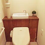 セリア/団地 DIY/リメイクシート/Bathroom…などのインテリア実例