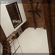 階段/シーリングファン/オイルステイン/アイアン/On Walls…などのインテリア実例