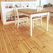 南欧風/収納/白×木/無垢材/漆喰壁/木が好き♡…などのインテリア実例