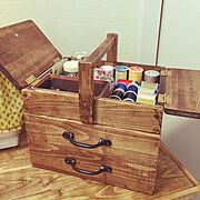 お裁縫箱のインテリア実例写真