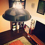 レコードジャケット/ホームシアター/部屋の一角/すきなもの/IKEA/まったり時間…などのインテリア実例