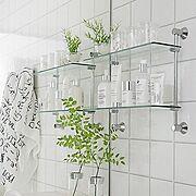 シルバー/飾り棚/IKEA/見せる収納/観葉植物/シンプルモダン…などのインテリア実例