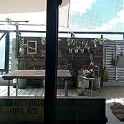 マンション暮らし/RC山口♡/カフェ風インテリアを目指して/グリーンのある暮らし/山善…などのインテリア実例