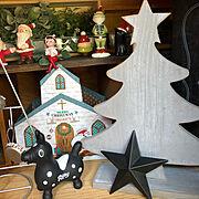クリスマス/フェイクグリーン♡/seria ♡/コポー/昭和の家/Rody…などのインテリア実例