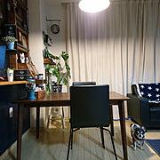 グリーンのある暮らし~フェイクだけど/Lounge/パソコンデスクDIY/白黒好き…などに関連する他の写真
