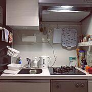 ワンルーム 狭い/一人暮らし/ミニキッチン/Kitchen…などのインテリア実例