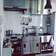 Kitchen/キッチン/ステンレス/ステンレスキッチン/業務用キッチン…などのインテリア実例