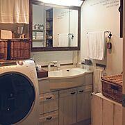 ダイソー/ニトリ/IKEA/セリア/自作扉/Bathroom…などのインテリア実例
