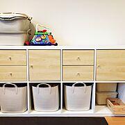 カジタノ/IKEA/IKEAの棚/リビングにあるキッズスペース/おもちゃ収納/KALLAX…などのインテリア実例