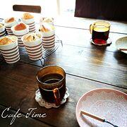 セリアの紙コップ/フェリシモ/デュラレックス/カフェ風/おしらせ/しゃれとんしゃあ会…などのインテリア実例