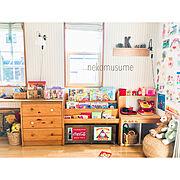 アーチ垂れ壁/ていねいに暮らしたい/子供部屋女の子/R壁/キッズキッチン/キッズスペース (リビング)…などに関連する他の写真