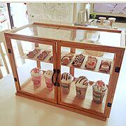 フォトフレーム/ショーケース/My Shelf/フラペチーノ/クッキー/フェイクスイーツ…などのインテリア実例