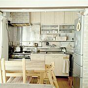 ナチュラルインテリア/ナチュラルなお部屋にしたいっ♡/社宅/団地キッチンで、シンプルライフを楽しむ/Kitchen…などのインテリア実例