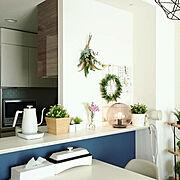 くらしのeショップ/電気ケトル/スリムホットプレート/食卓に山善/山善/花のある暮らし…などのインテリア実例