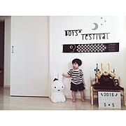 子供部屋/子供部屋 男の子/miffy/miffylamp/ミッフィー/ミッフィーランプ…などのインテリア実例