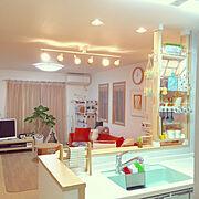ソラシエル/DIY/2×4材/カフェ風/わんこと暮らす家/こどもと暮らす。…などのインテリア実例