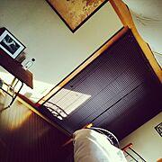 ニトリ/一人暮らし/和室/和室が寝室/和室を改造/Bedroom…などのインテリア実例