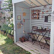 セルフリノベ/中古住宅/セルフリノベーション/お庭リノベ/お庭/小屋…などのインテリア実例