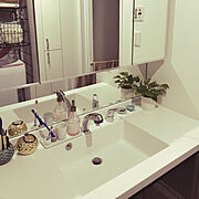 IKEA/観葉植物/無印良品/歯ブラシスタンドは無印/Bathroom…などのインテリア実例
