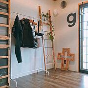 男前インテリア/DIY/ラダー/IKEA/和室/壁紙屋本舗…などのインテリア実例