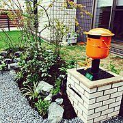 ボンポスト/庭/芝生/植物/Entrance…などのインテリア実例