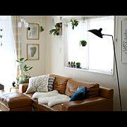 ブログやってます♪/サボテン/モビール/artek/IKEA/ソファ…などのインテリア実例