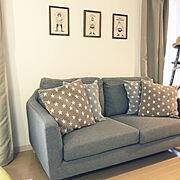ソファ/ワンルーム/賃貸アパート/一人暮らし/Lounge…などのインテリア実例