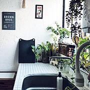 ブルックリンスタイル/ig→yu_akashi/緑のある暮らし/スッキリ暮らす/こどもと暮らす…などのインテリア実例