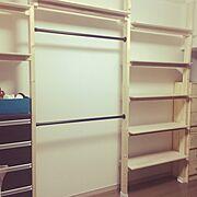IKEA/収納/ディアウォール/クローゼット/手作り/ハンドメイド…などのインテリア実例