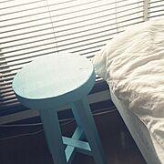 スツール/椅子/水色/DIY…などのインテリア実例