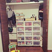 My Desk/子供部屋/クローゼット/おもちゃ収納…などのインテリア実例